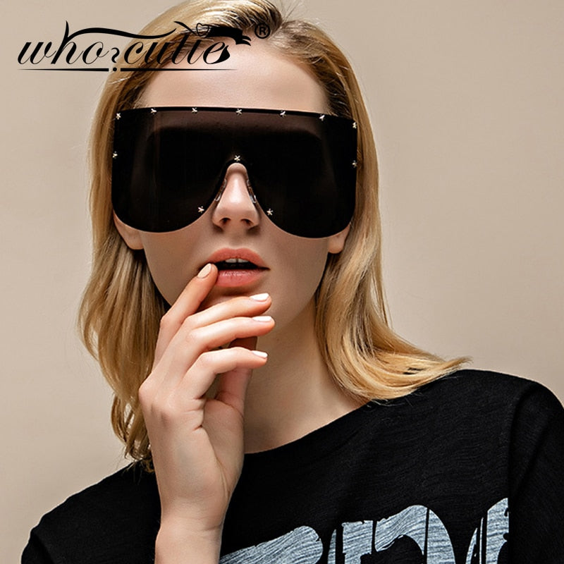 Women Oversized Goggles Sunglasses