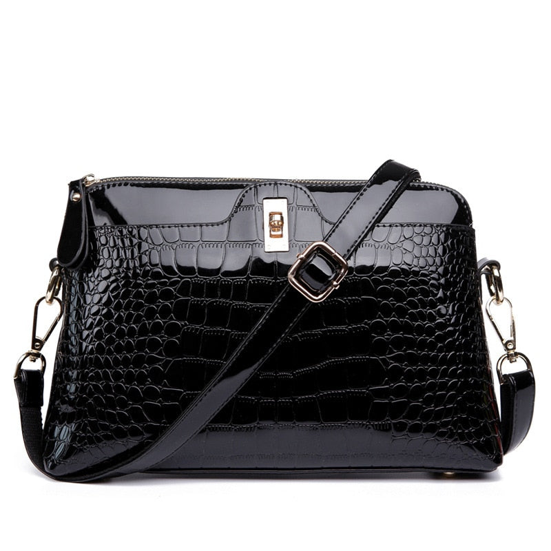 Brand Luxurious Crocodile Leather Shoulder Bag Women