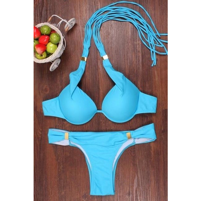 2020 Summer New Bikinis Women Padded Push-up Bikini Set