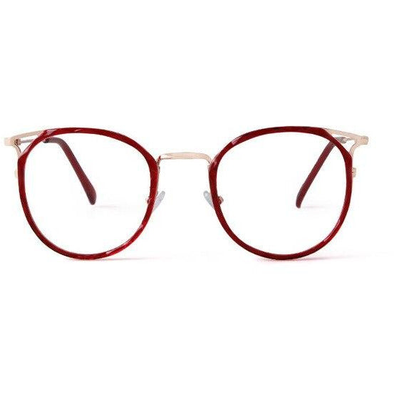 Crystal Round Glasses Frame Women