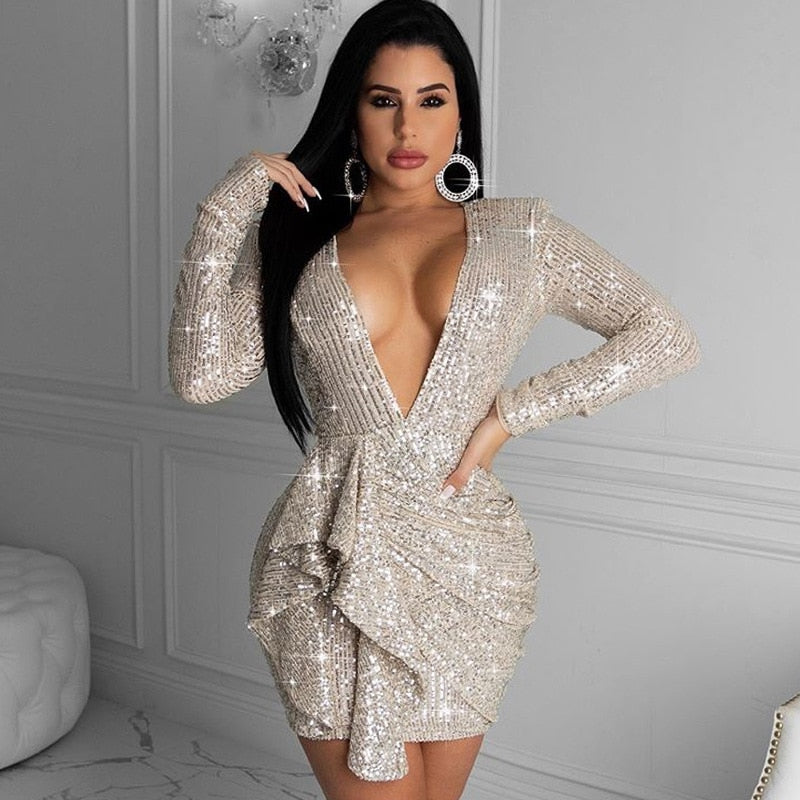 Women Sequined Bodycon Dress