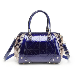 Luxury Patent Leather Sequin Embroidery Women Bag