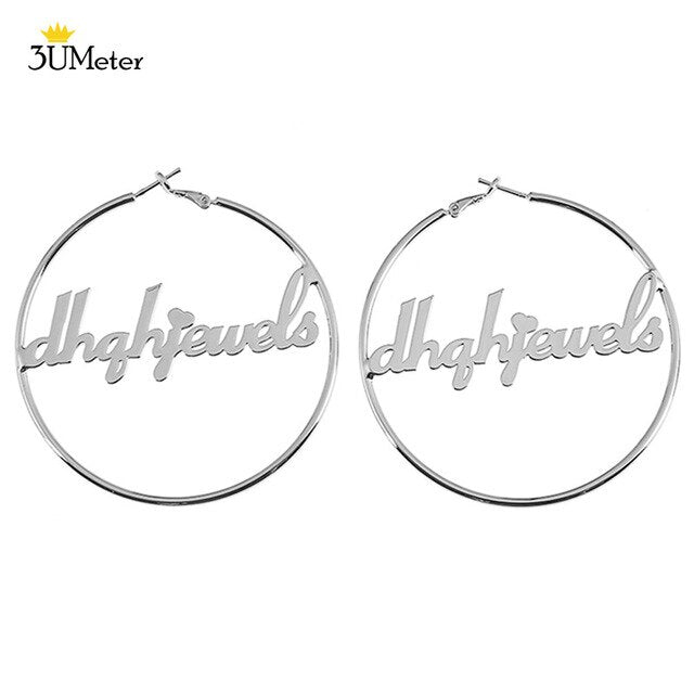 3UMeter 30-100mm Custom Name Earrings