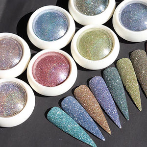 NEW 8Colors/Set Rainbow Glitter Fine-Ultra reflection