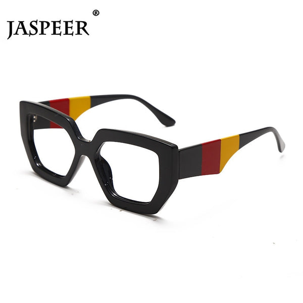 JASPEER Square Oversized Reading Glasses Women