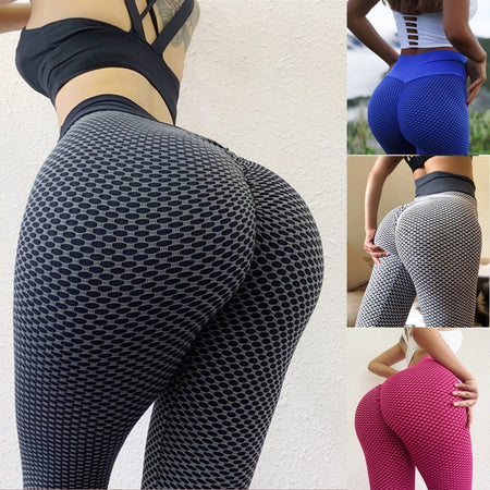 Women's High Waist Yoga Pants Anti-Cellulite Slimming Booty Leggings
