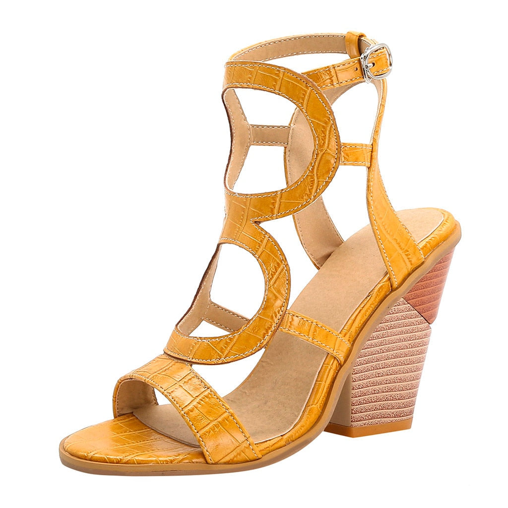 Womail Open Toe High Heel Thick Sandals