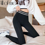 Winter New Sexy Woman High Waist Striped Sporting Workout Fitness
