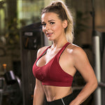 Women's Leisure Sports Bra Cross Back Seamless Training Bra
