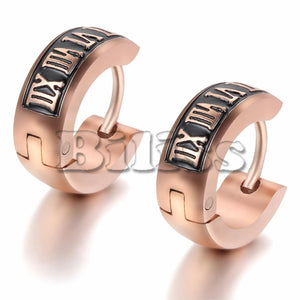 Vintage Women Men's Stainless Steel Small Hoop huggie Earrings