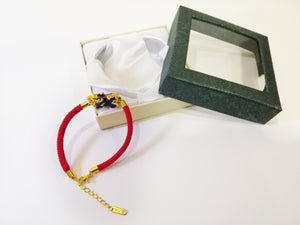Money Magnet Multi-Colored Piyao Bracelet (18K Gold Plated)