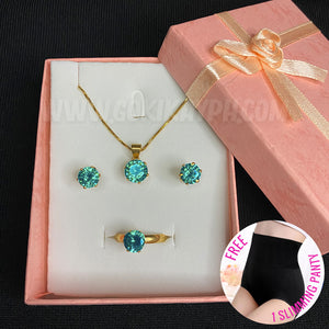Birthstone Set (Ring, Necklace & Earrings)
