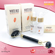 Black Obsidian Face Roller (w/ FREE 2 White Rice Serum)