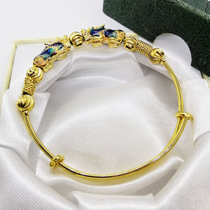 Money Magnet Multi-Colored Double Piyao Bangle