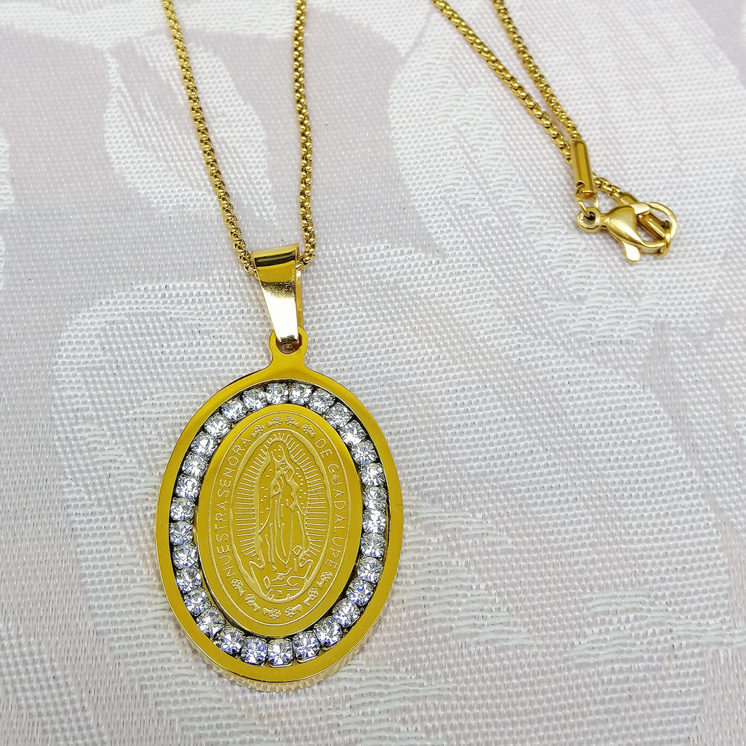 Virgin of Guadalupe Necklace (10k Gold Plated)