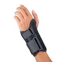 Florida Orthopedics Prolite Low Profile Wrist Splint, Black, Left Small