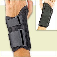 Florida Orthopedics Prolite Low Profile Wrist Splint, Black, Right Large
