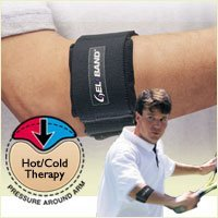 Gel-Band Tennis Elbow Arm Band - Black, FLA 19-500 - Universal Fit
