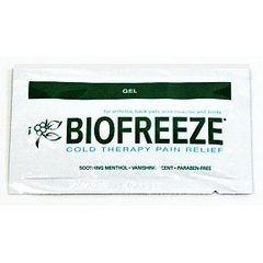 Biofreeze Cold Pain Relief On-the-Go Singles, 16 Little Gel Packets