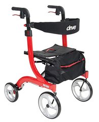 Drive Medical Nitro Euro Style Red Rollator Walker, Red