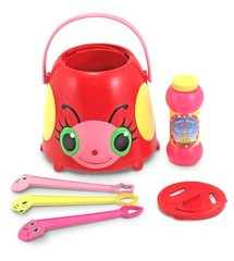 Melissa & Doug Mollie Ladybug Bubble-Blowing Bucket Set With 3 Bubble Wands