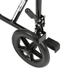 Drive Medical Deluxe Lightweight Aluminum Transport Wheelchair, Black, 17""