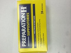 Preparation H Hemorrhoid Suppositories 24 Suppositories