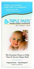 Triple Paste Medicated Ointment for Diaper Rash, 2 Ounce
