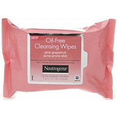 Neutrogena Oil-Free Cleansing Wipes Pink Grapefruit, 25 Count