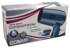 Conair Vagabond Folding Handle 1875 Watt Compact Hair Dryer