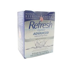 Refresh Optive ADVANCED Lubricant Eye Drops, 30 Single-Use Containers, 0.01 fl oz (0.4mL) each Ster