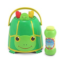 Melissa & Doug Sunny Patch Tootle Turtle Bubble-Blowing Bucket Set With 3 Bubble Wands