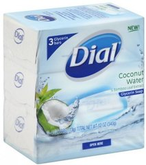Dial Glycerin Soap Bars Coconut Water & Bamboo Leaf Extract, 4 oz bars, 3 ea