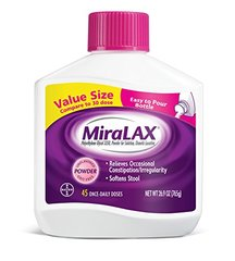 MiraLAX Powder Laxative, 45 Doses, 26.9 Ounce