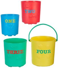MELISSA & DOUG 6424 SEASIDE SIDEKICKS NESTING PAILS