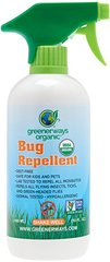 Greenerways Organic Mosquito Insect Repellent, Premium, USDA Organic, DEET-FREE, Natural, Mosquito-