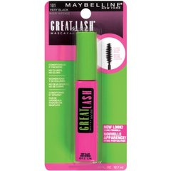 Maybelline Makeup Great Lash Washable Mascara, Very Black Volumizing Mascara, 0.43 fl oz