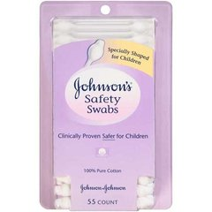 Johnson & Johnson 008256 Baby Care Safety Swab, 55CT