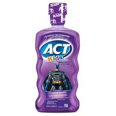 ACT Kids Anticavity Fluoride Rinse, Batman Fruit Punch, 16.9 Bottle
