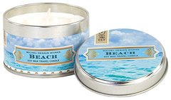Michel Design Works Soy Wax Candle, Travel Tin Size, Beach