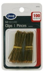 Goody Hair Pins, Brown, 100 Count