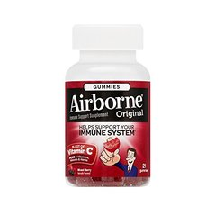 Airborne Mixed Berry Flavored Gummies, 21 count
