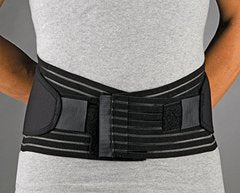 FLA Orthopedics FL31-722MDBLK PROLITE 9 in. Neoprene Lumbar Sacral Back Support - Size- Medium -33