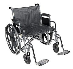 Bariatric Sentra EC Heavy-Duty Wheelchair STD24ECDFA-ELR