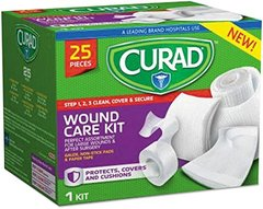 Curad Wound Care Kit 25 PC 3 Steps