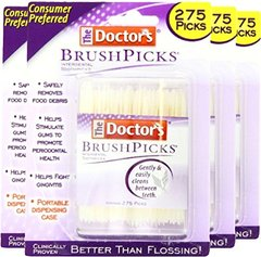 The Doctor's BrushPicks | Interdental Toothpicks | 275 Count | Safely Removes Food Debr