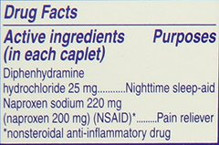 Aleve PM Caplets with Naproxen Sodium, 220mg (NSAID) Pain Reliever/Fever Reducer/Sleep Aid, 40 Coun