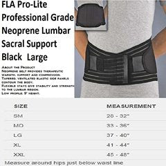 FLA Orthopedics Neoprene Lumbar Sacral Support Belt : Large - Black