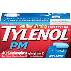 Tylenol PM Extra Strength Caplets, 100 Count
