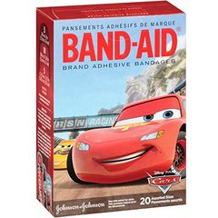 Band-Aid Adhesive Bandages Featuring Disney-Pixar Cars, Assorted Sizes, 20 ct